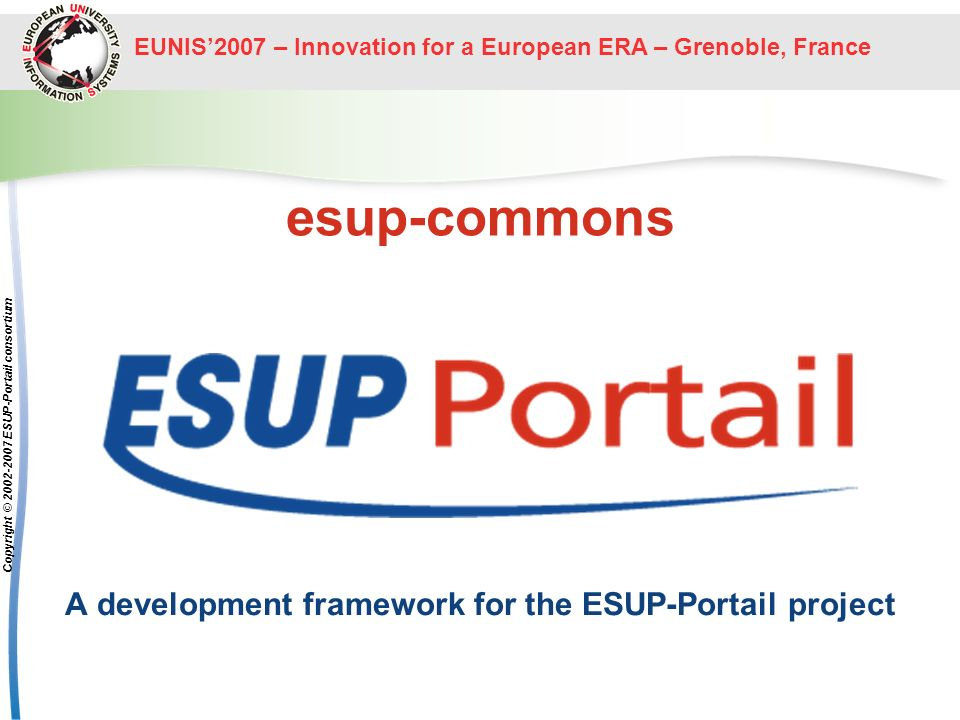 A development framework for the ESUP-Portail project