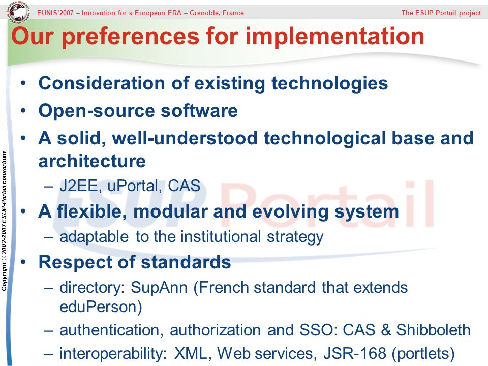 Our preferences for implementation