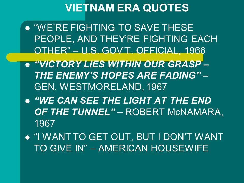 U.S. INVOLVEMENT AND ESCALATION IN VIETNAM,