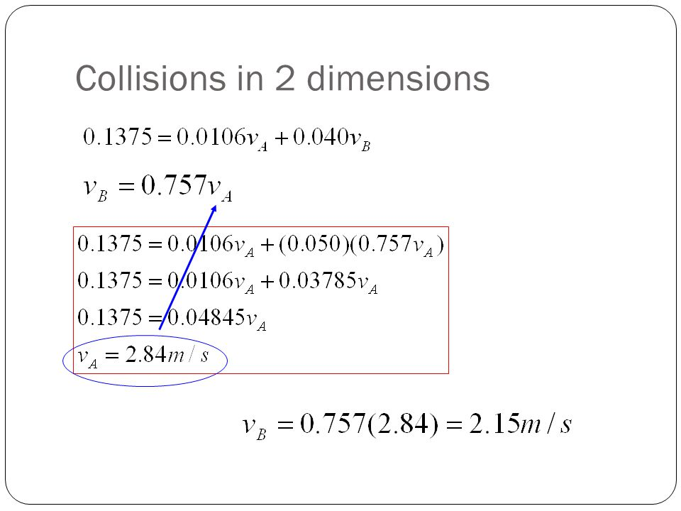 Collisions in 2 dimensions