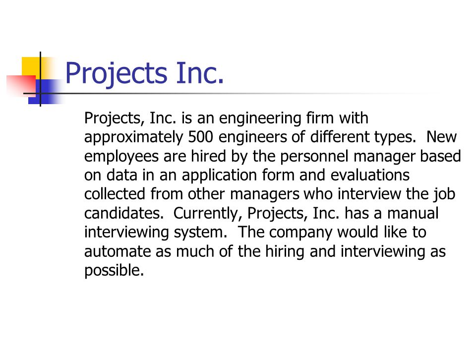 Projects Inc.