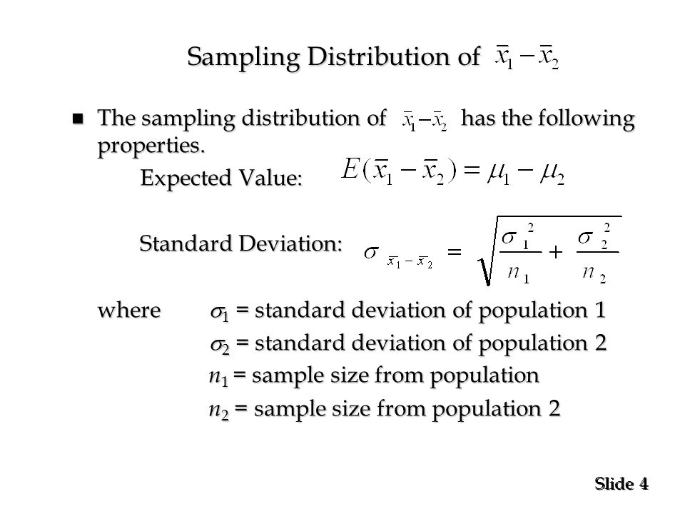 par inc statistics interval If you know the standard deviation for a population, then you can calculate a confidence interval (ci) for the mean, or average based on my sample data.