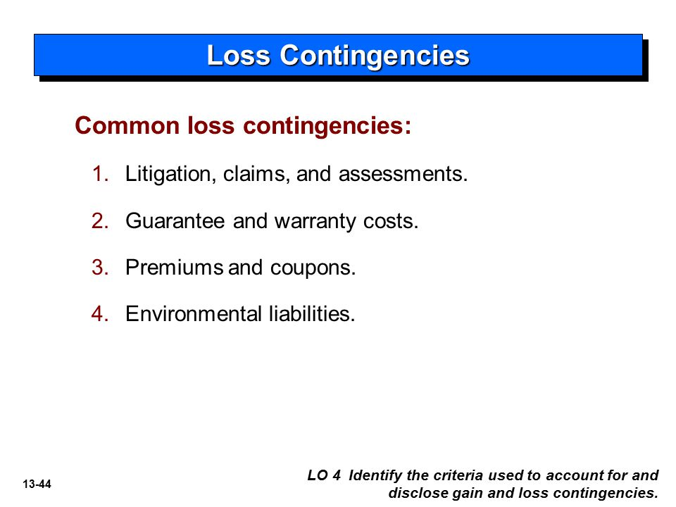 accounting for loss contingency essay Ase 13-8 accounting for a loss contingency for a verdict overturned on appeal please see my attachment for this case study and answer it with journal entry as needed because this is for an accounting major.