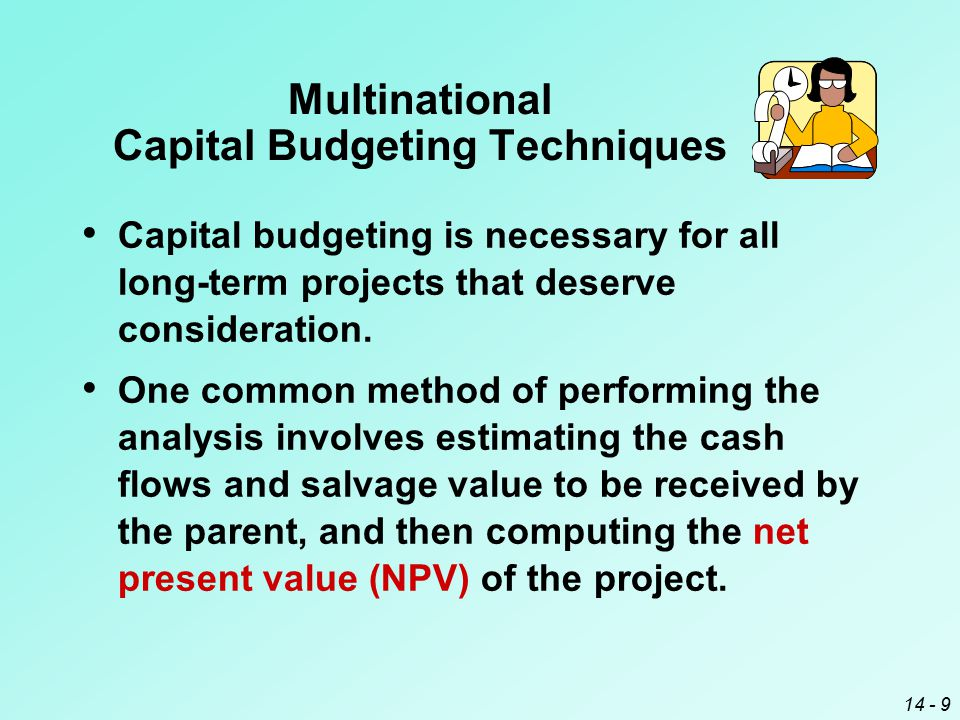 Capital budgeting in mnc