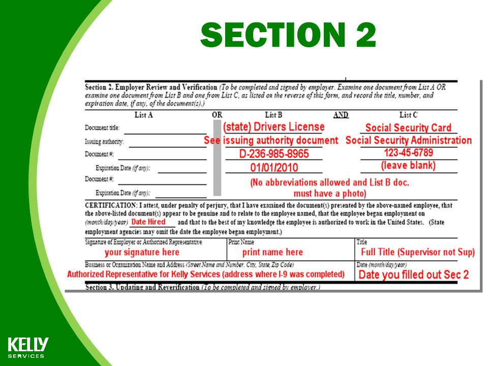 Form I-9 INSTRUCTIONS for FedEx Representatives - ppt download