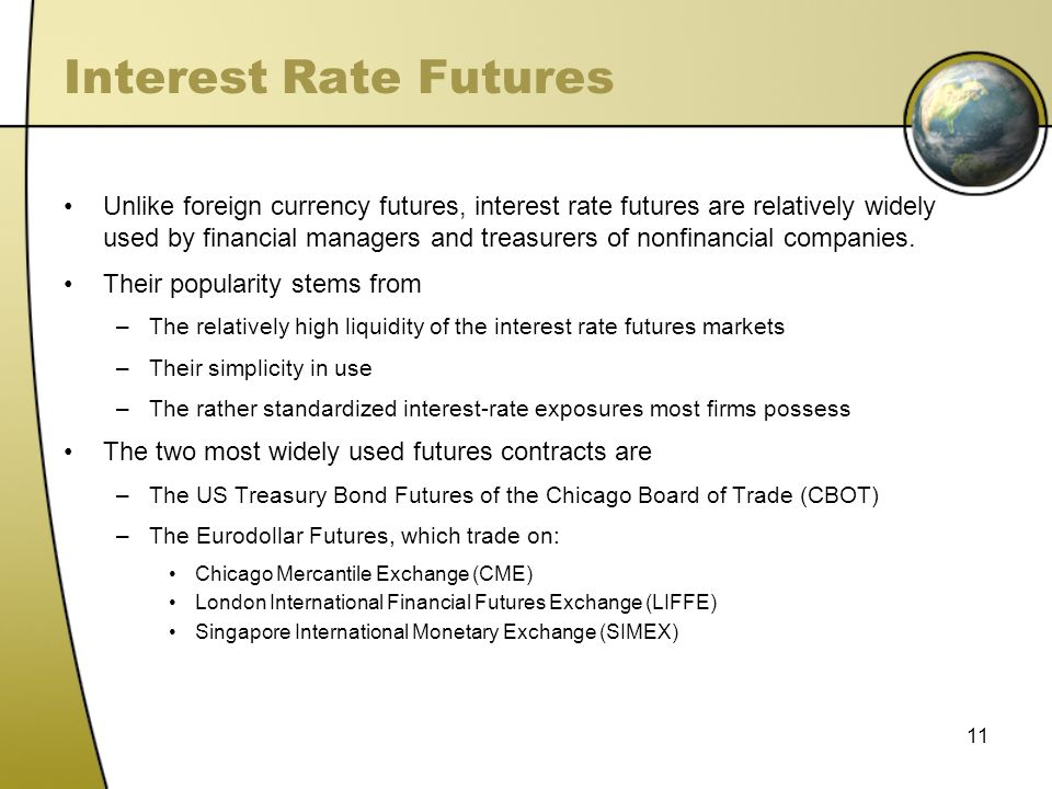 Interest rate futures trading strategies