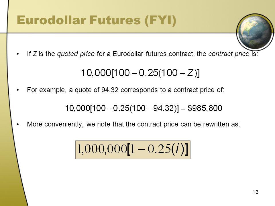 Eurodollar Futures (FYI)