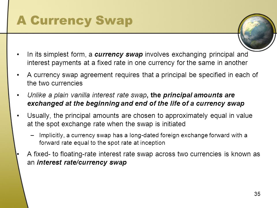 A Currency Swap