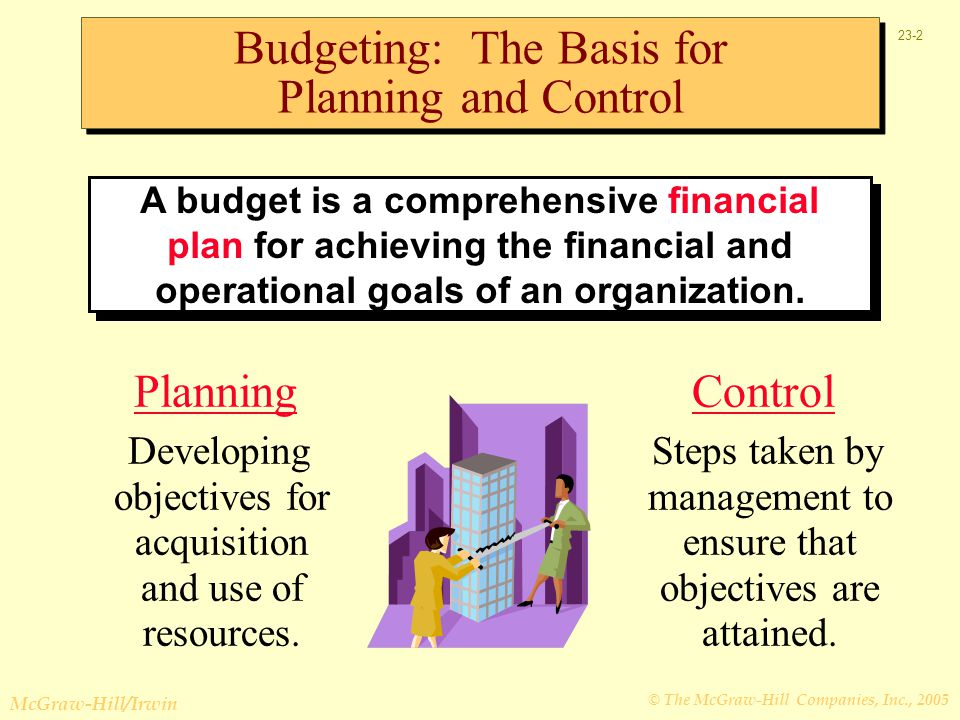 Budgeting: The Basis for Planning and Control