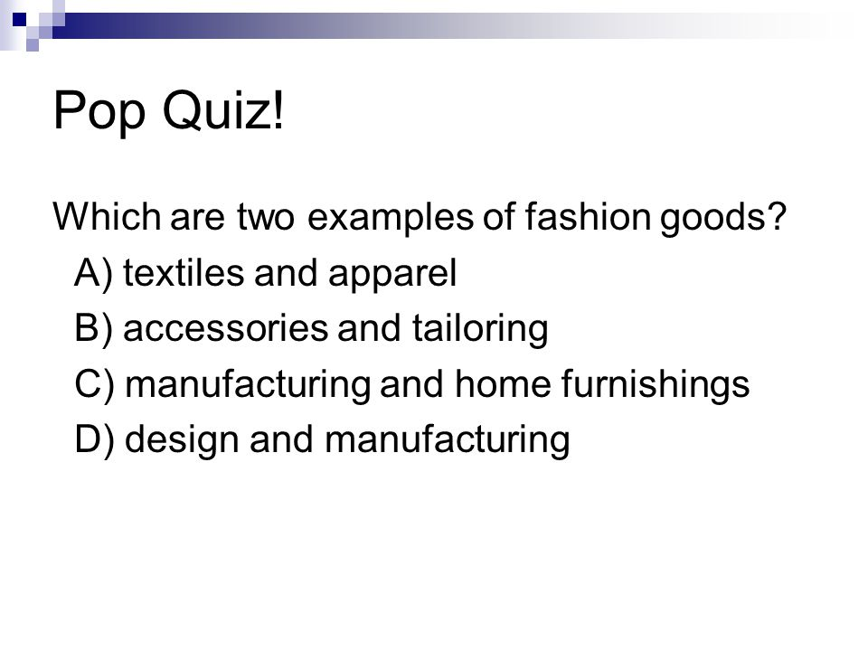 Fashion Products And Planning Ppt Download