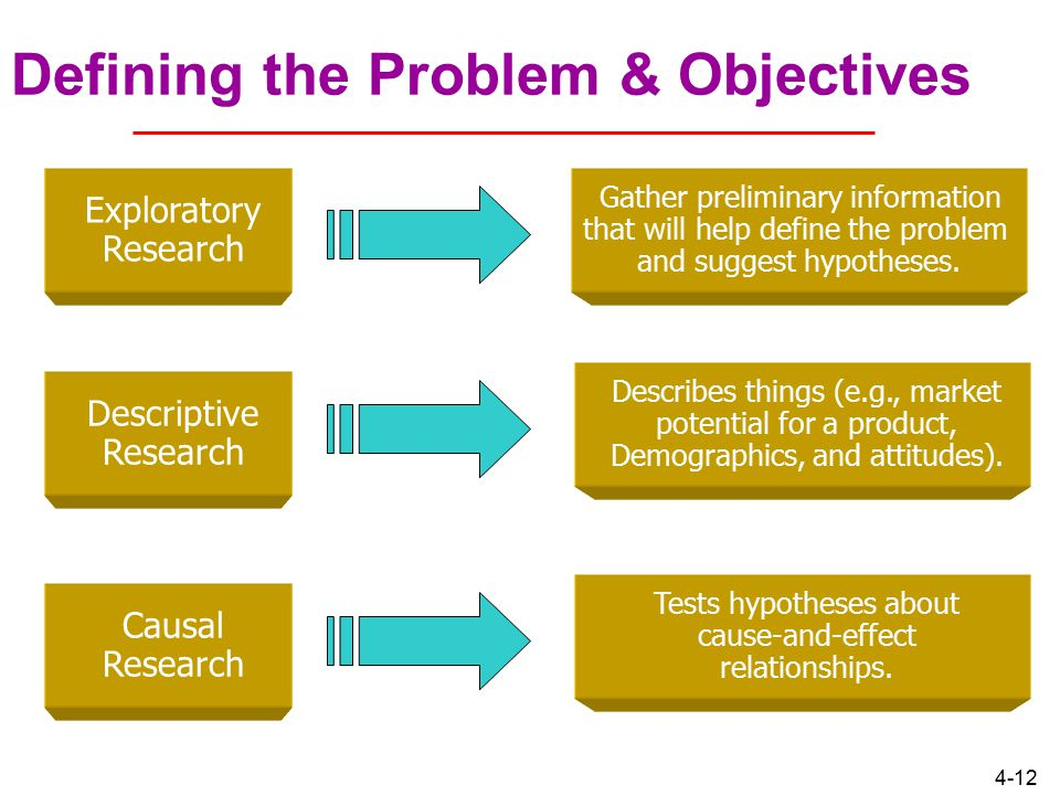 Defining the Problem & Objectives