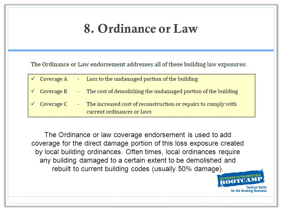 Building Ordinance Insurance