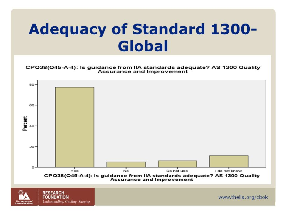 Adequacy of Standard 1300-Global