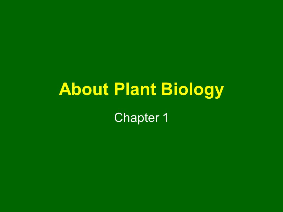 About Plant Biology Chapter 1