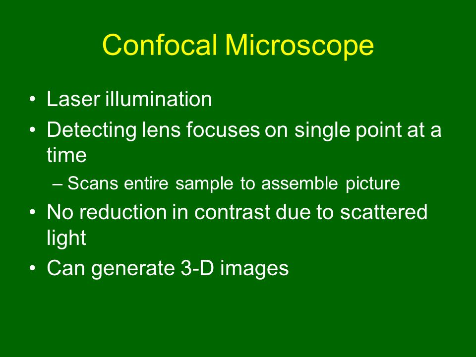 Confocal Microscope Laser illumination