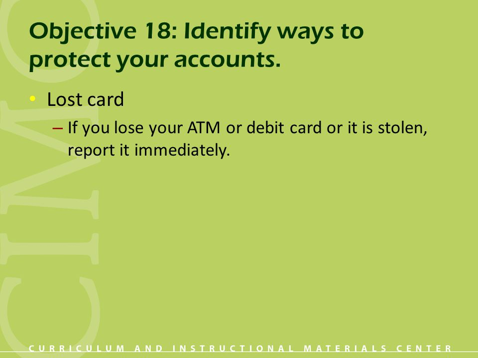 how to use a stolen debit card online