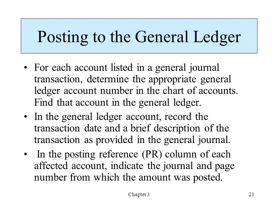 how to find page number on a general journal