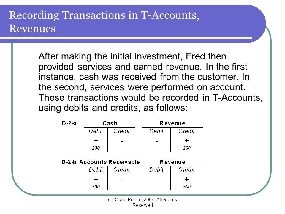 using t accounts