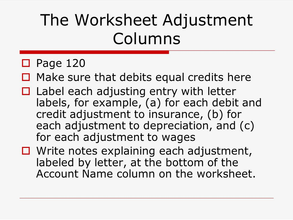Adjusting Entries and The Worksheet ppt download – Depreciation Worksheet