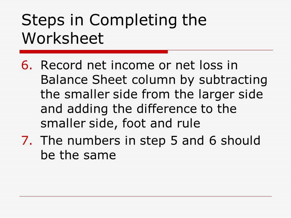 Adjusting Entries and The Worksheet ppt video online download – Step 5 Worksheet