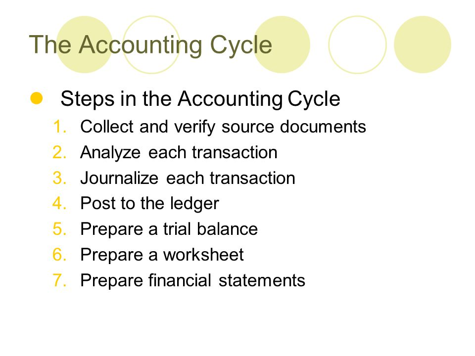 steps to accounting cycle transcript Start studying accounting cycle steps 1-8 learn vocabulary, terms, and more with flashcards, games, and other study tools.