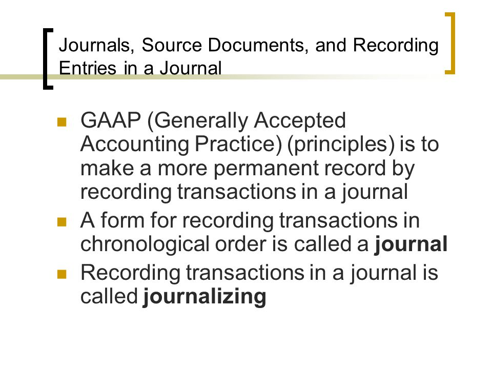 Journalizing Transactions - ppt video online download