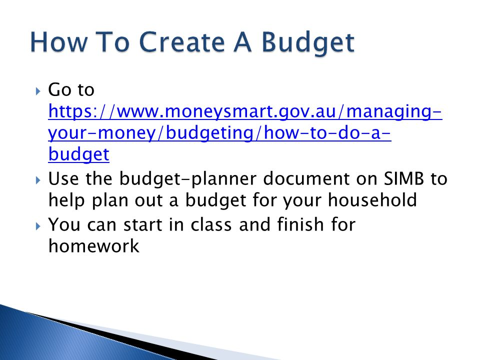 how to plan a budget and save money