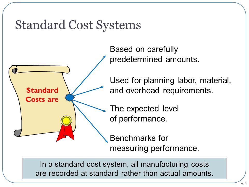 Standard Cost Systems Based on carefully predetermined amounts.