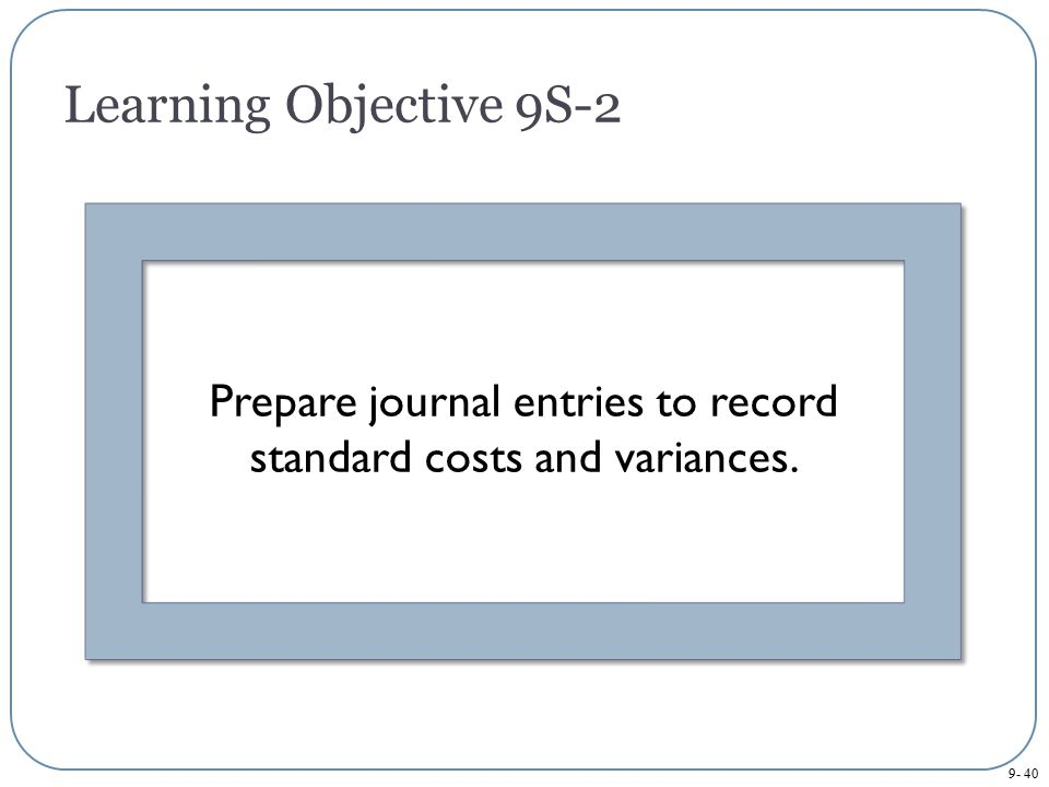 Prepare journal entries to record standard costs and variances.