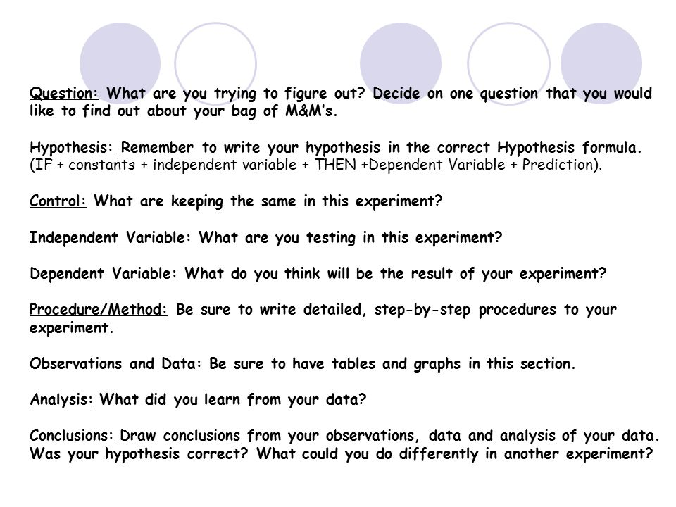 how to write a correct scientific hypothesis