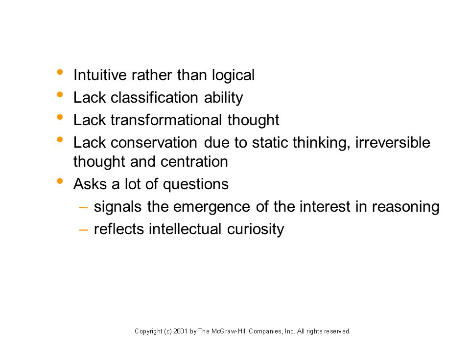 Intuitive rather than logical