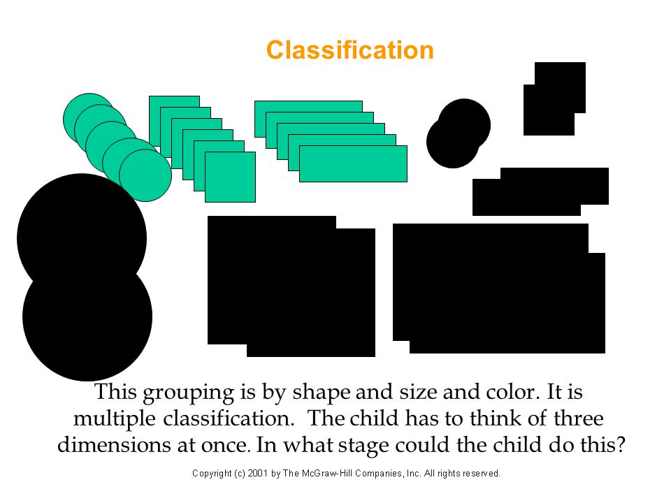 Classification v v This grouping is by shape and size and color. It is