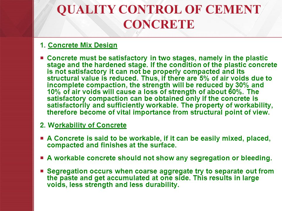 importance of durability of concrete Durability durability refers to the ability of concrete to resist deterioration from the environment or service in which it is placed the durability of aggregates can be conveniently divided into physical and chemical causes.
