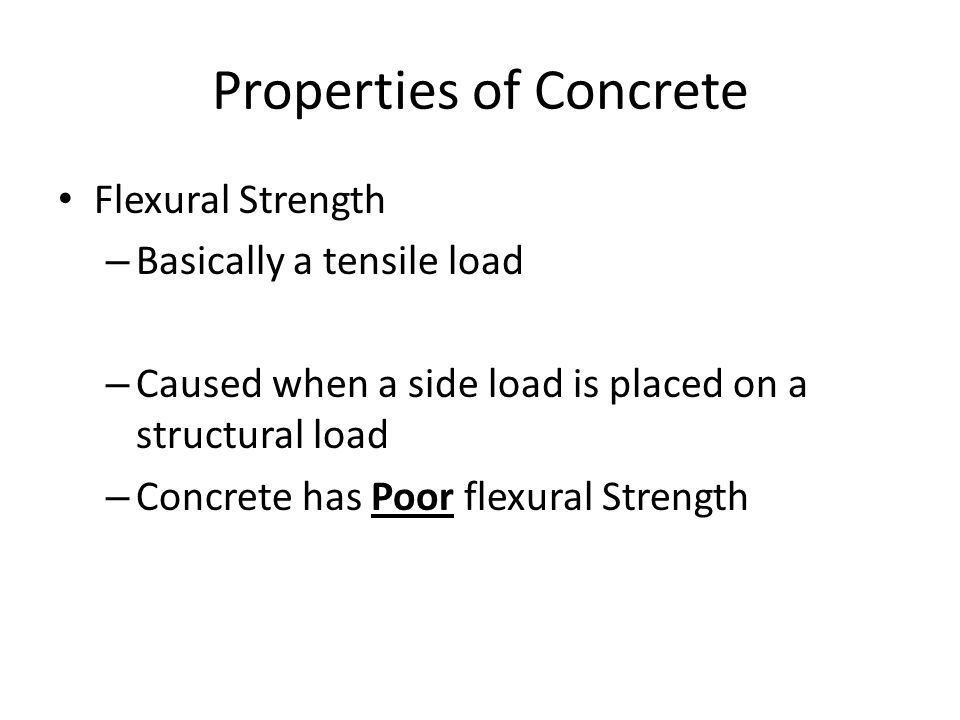 Properties Of Concrete : Concrete ppt video online download