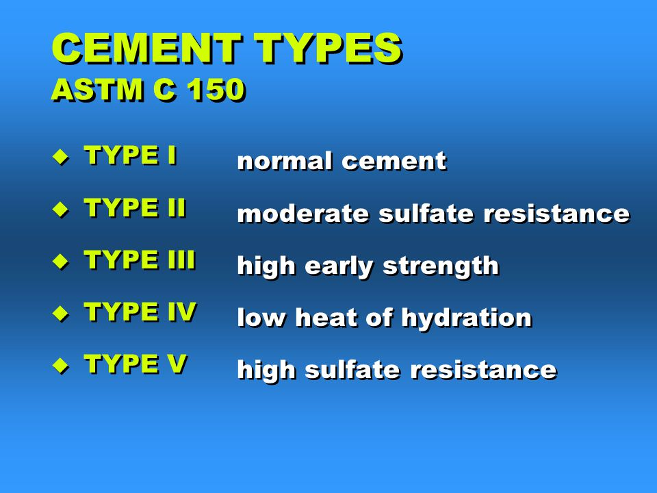 Type V Cement : Construction materials ppt download