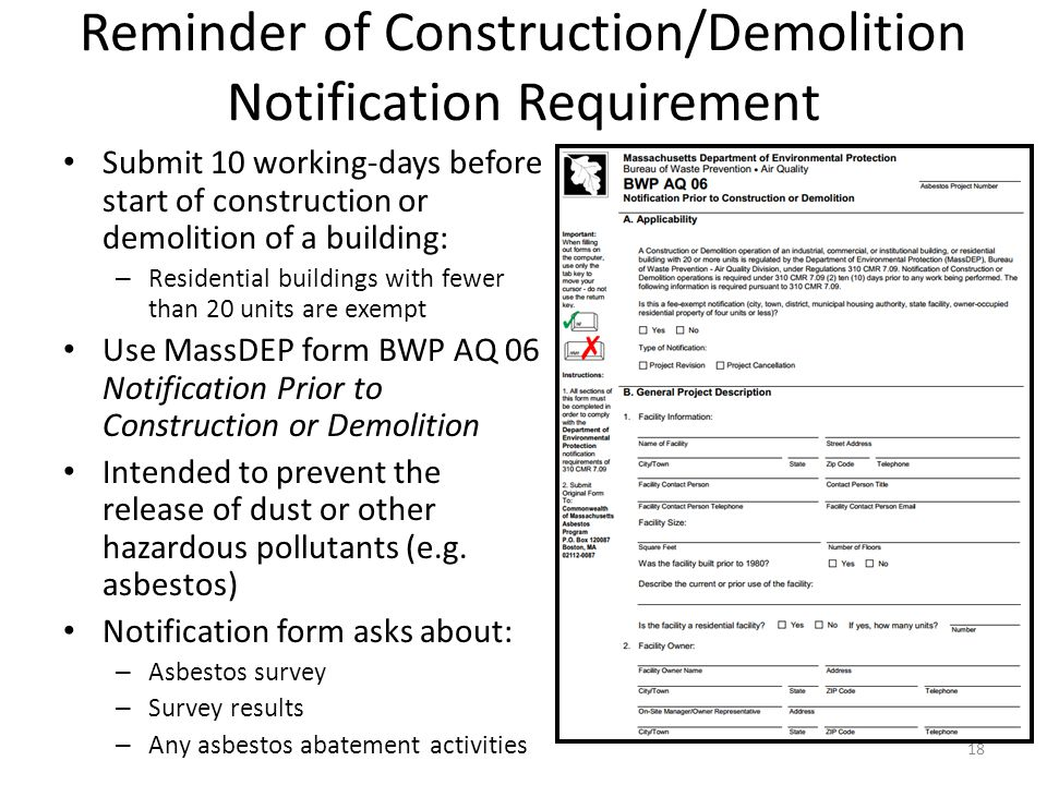 Revised Massdep Asbestos Regulation - Ppt Video Online Download