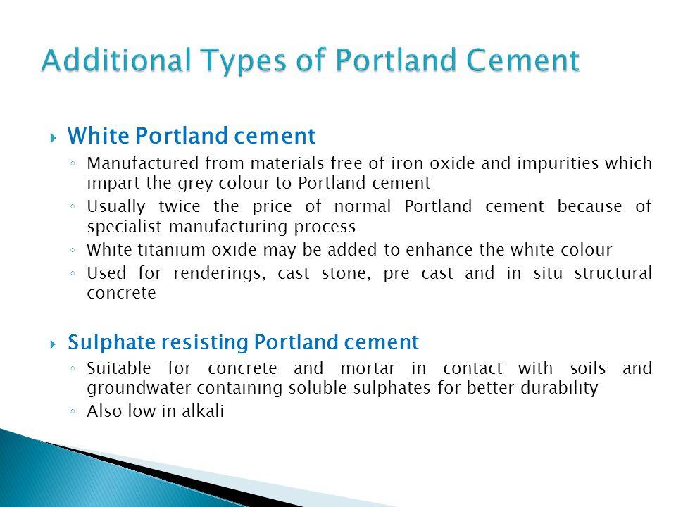 Portland Cement Types : Allan nantel room ma fade south building october ppt