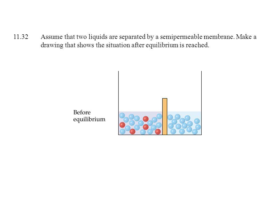 11.32 Assume that two liquids are separated by a semipermeable membrane.
