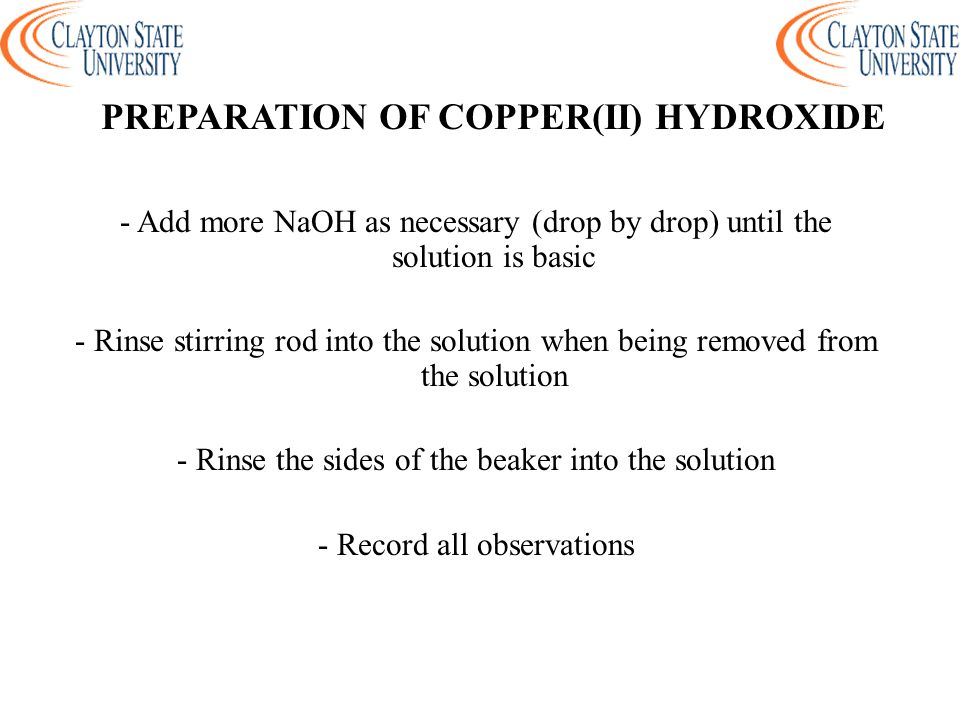 preparation of the naoh solution Reagent preparation there are several ways to prepare free carbonate naoh or koh solution to prepare 01 eq/l naoh or koh solution the easiest.