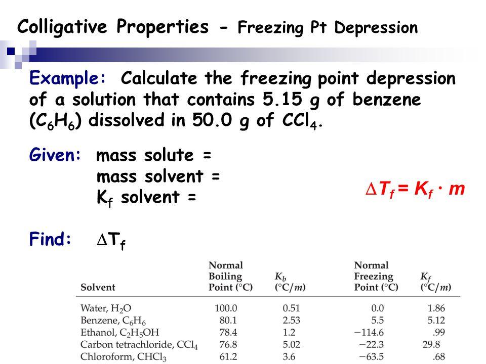 colligative properties - freezing-point depression and molar mass essay Determination of the molar mass of volatile liquids lab video explanation  molar mass by freezing point depression lab  colligative properties.