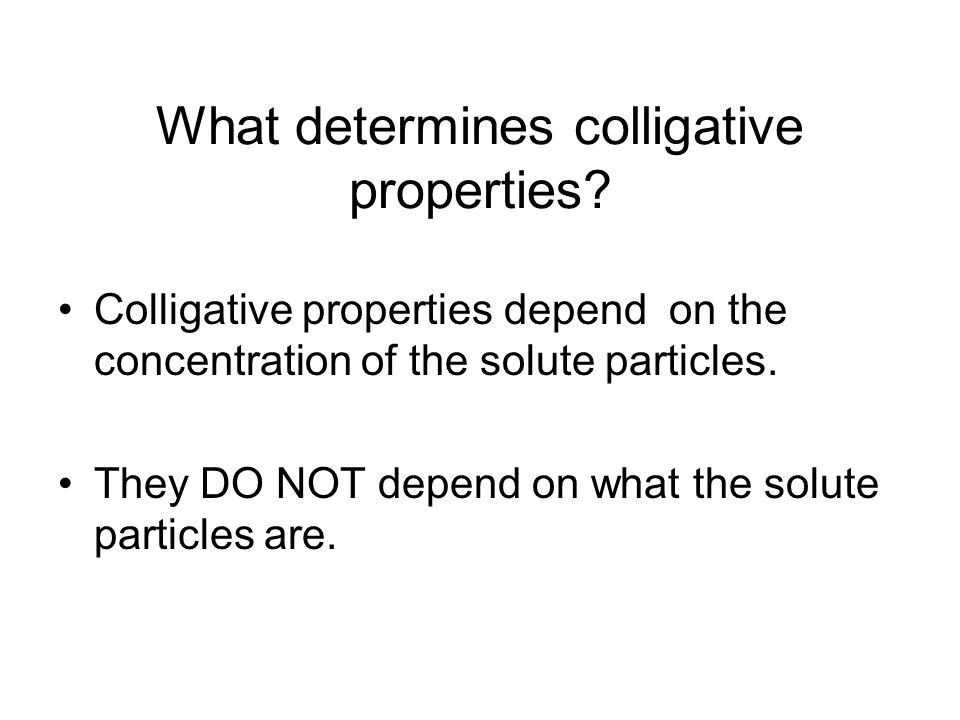 Colligative Properties ppt download – Colligative Properties Worksheet