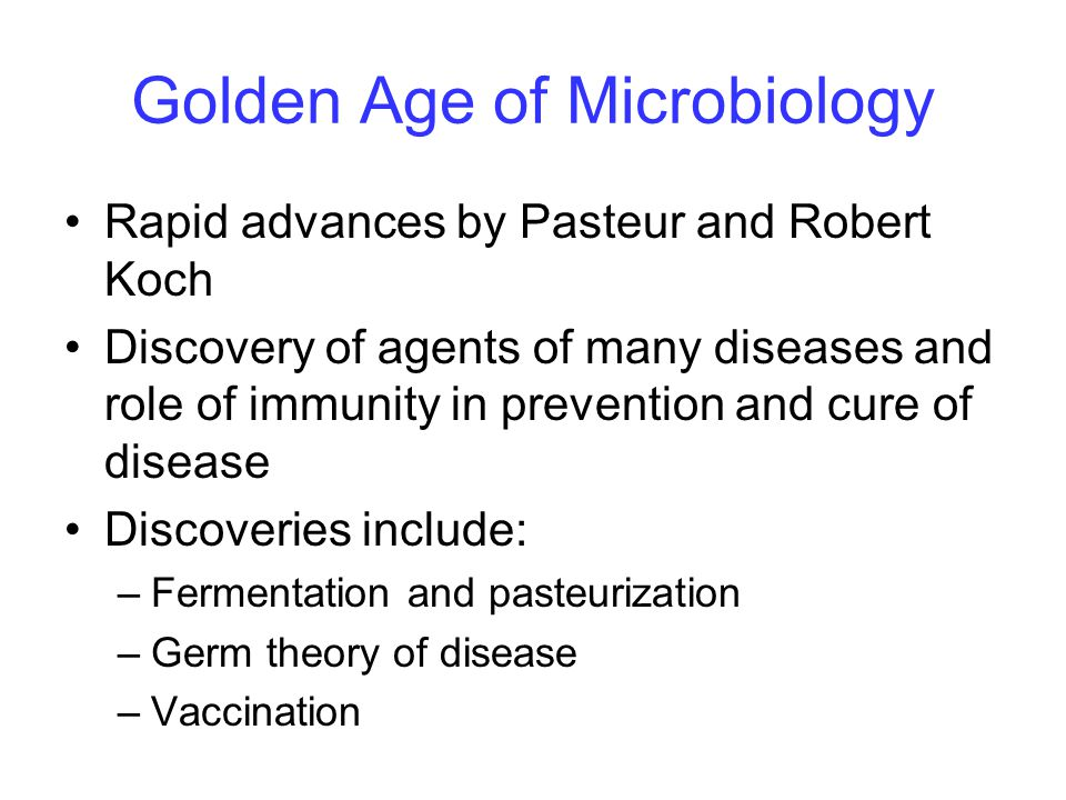Golden Age of Microbiology