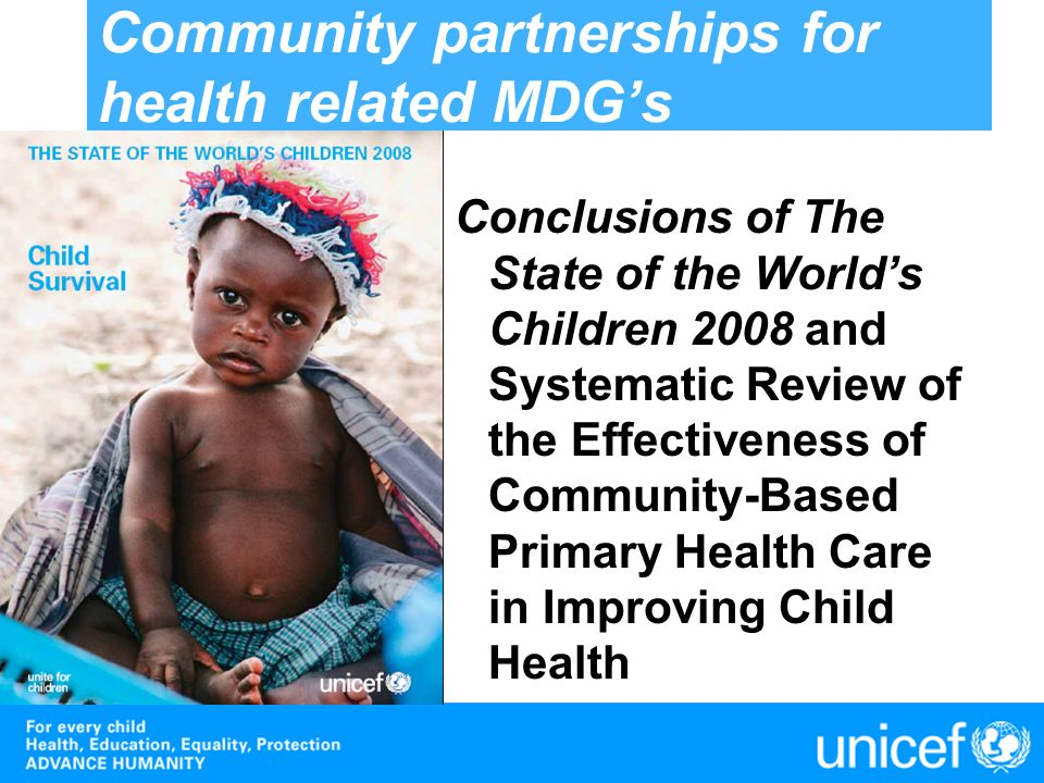 Community partnerships for health related MDG's