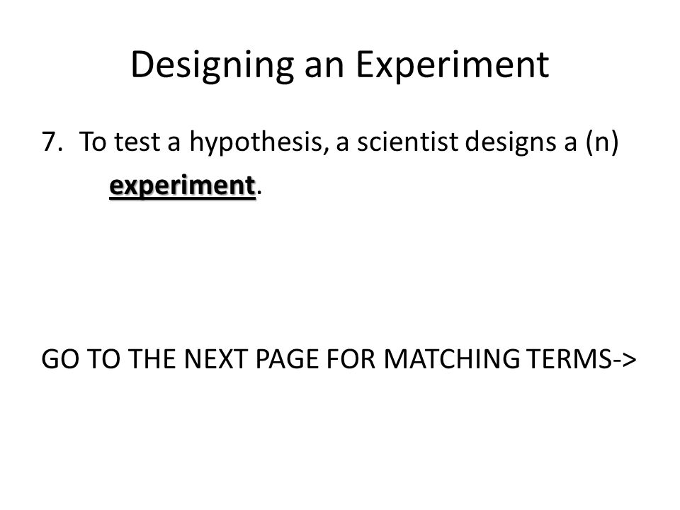 Chapter 1 Section 2 Answers to review for worksheet pages ppt – Designing an Experiment Worksheet