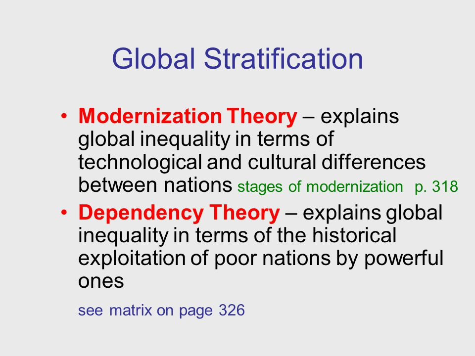 Global Stratification Essay