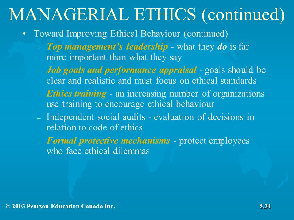 managerial ethics 60% percentage of workplace misconduct that involved someone with managerial authority, according to the 2013 national business ethics survey of the us workforceroughly 25 percent of observed misconduct involved senior managers.
