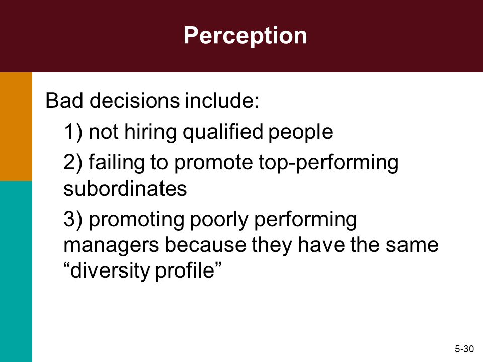 Hispanic perceptions of the hiring decision