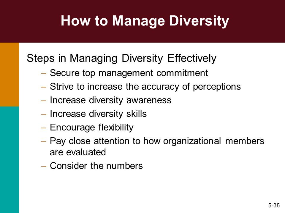 how to effectively manage diversity in an organization For a wide assortment of employees to function effectively as an organization,   and willing to spend resources on managing diversity in the workplace now.