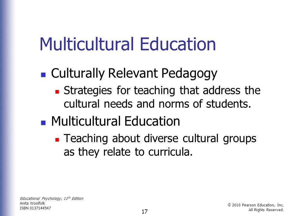 reflection education and culturally diverse students Diversity training is effective if employees can recognize the advantages of becoming a culturally diverse workplace advantages can include attracting and retaining valuable employees, increased innovation and creativity, and improved team performance.