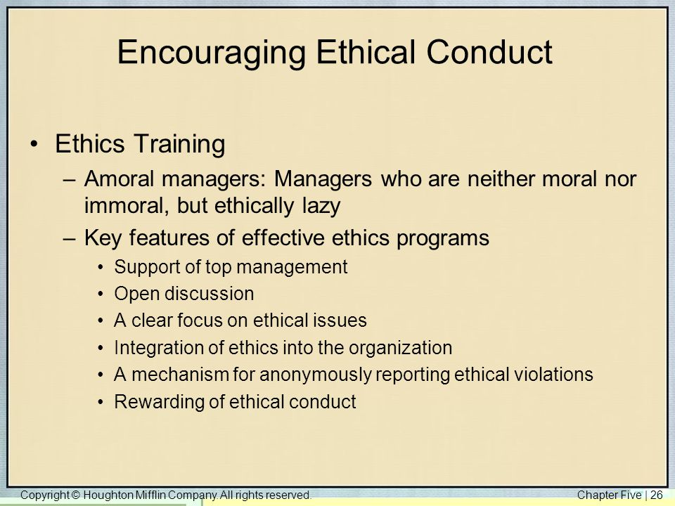 effective ethics and ethical behavior The five minute ethics exercise: a simple and effective approach to incorporating ethical awareness and behavior is so critical to the accounting profession that some states now require the authors developed the five-minute ethics exercise as a quick and effective means of.